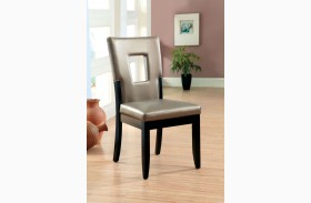 Evant I Leatherette Side Chair Set of 2