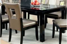 Evant I Mirror-Insert Rectangular Leg Dining Table