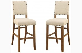 Sania Natural Tone Bar Stool Set Of 2