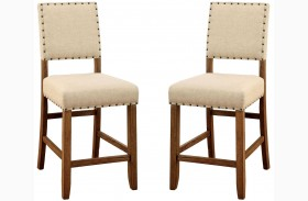 Sania Natural Tone Counter Height Chair Set Of 2