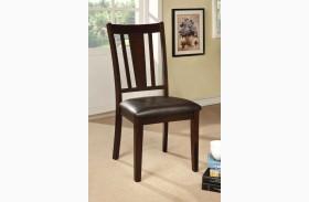 Bridgette I Espresso Leatherette Side Chair Set of 2