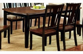 Dover Black and Cherry Rectangular Extendable Leg Dining Table
