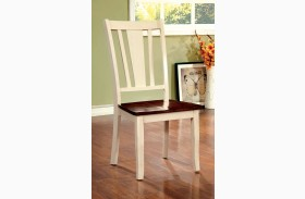 Dover Vintage White and Cherry Side Chair Set of 2