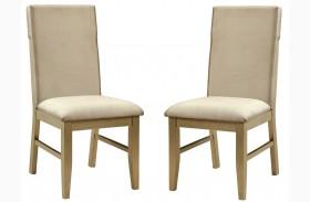 Zelda Gold Side Chair Set Of 2