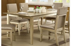Zelda Gold Extendable Rectangular Dining Table