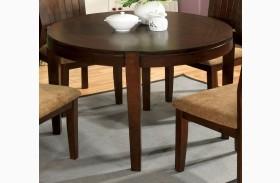 Ottawa I Walnut Round Leg Dining Table