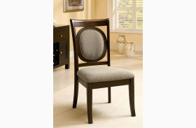Evelyn Walnut Side Chair Set of 2