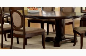 Evelyn Walnut Oval Extendable Pedestal Dining Table