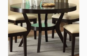Downtown I Espresso Round Pedestal Dining Table