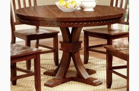 Foster I Dark Oak Round Pedestal Table