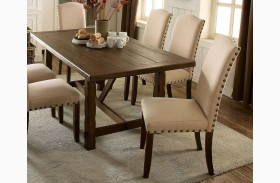 Brentford Rustic Walnut Rectangular Dining Table