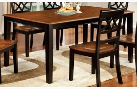 Torrington Black and Cherry Rectangular Extendable Leg Dining Table
