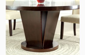 Cimma Espresso Round Dining Table
