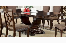 Woodmont Walnut Rectangular Trestle Dining Table