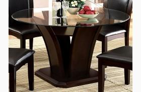 Manhattan I Dark Cherry Round Pedestal Dining Table