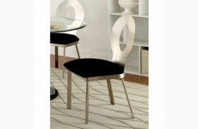 Valo Satin Plated Side Chair Set of 2