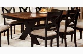 Liberta Dark Oak Rectangular Trestle Dining Table