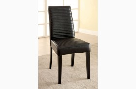Levna Black Side Chair Set of 2