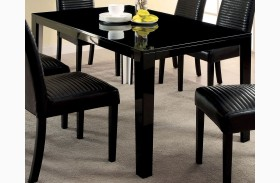 Levna Black Rectangular Dining Table