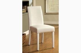Levna White Side Chair Set of 2