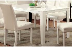 Levna White Rectangular Dining Table
