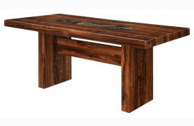 Bonneville I Brown Cherry Rectangular Trestle Dining Table