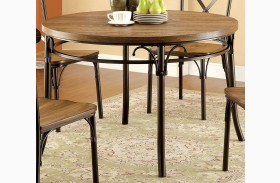 Crosby Bronze Round Leg Dining Table