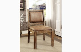 Colettte Rustic Oak Side Chair Set Of 2