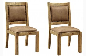 Gianna Rustic Pine Side Chair Set Of 2