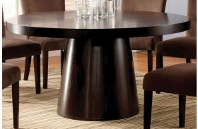 Havana Espresso Round Pedestal Dining Table