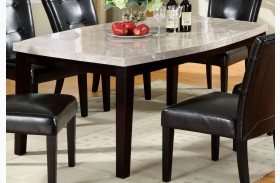 Marion I Marble Top Oval-Edge Dining Table
