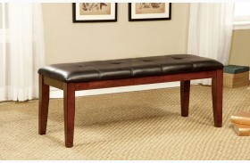 Foxville Cherry Leatherette Bench