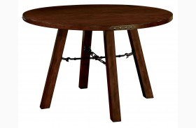 Dwight Dark Oak Round Dining Table