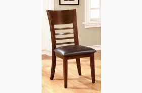 Hillsview I Brown Cherry Side Chair Set of 2