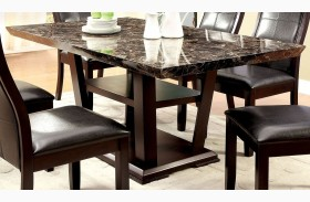 Clayton I Dark Cherry Rectangular Pedestal Dining Table