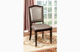 Harrington Pewter Leatherette Side Chair Set of 2