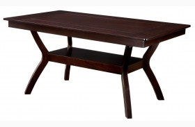 Brent Dark Cherry Rectangular Trestle Dining Table