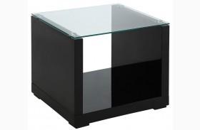 Myla Black End Table