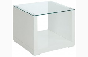 Myla White End Table