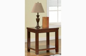 Estell Cherry End Table
