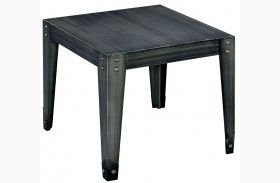 Floyd Weathered Black End Table