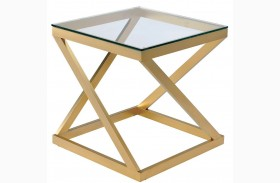 Zoya Gold End Table