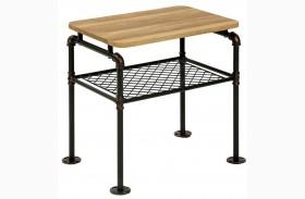 Reagan Antique Black End Table