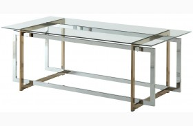 Skye Champagne and Chrome Coffee Table