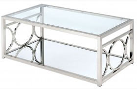 Rylee Chrome Coffee Table