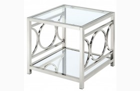 Rylee Chrome End Table