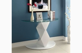Halawa V White Sofa Table