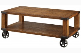 Broadus Dark Oak Coffee Table