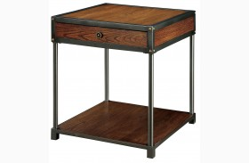 Hecura I Antique Oak End Table