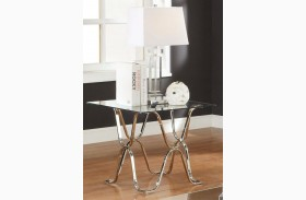 Vador Chrome End Table